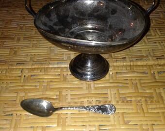 Sugar bowl with sugar spoon