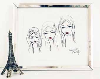 Modern Brigitte Bardot Fashion Illustration
