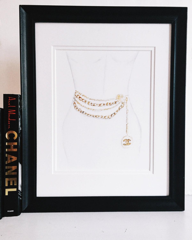 Chanel Art Print/ Fashion Illustration/ Vintage/ 90's