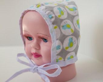 Newborn Flannel Bonnet