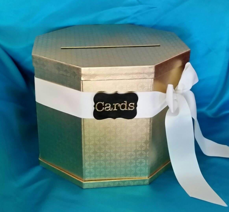 Wedding Gift Card Box Gold : Gold Wedding Gift Card Box Wedding Card holder Card Holder