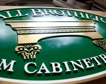 "12"" x 24"" Custom Sandblasted Sign"