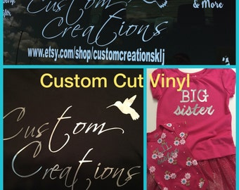 Custom Cut Vinyl Iron-ons and Decals