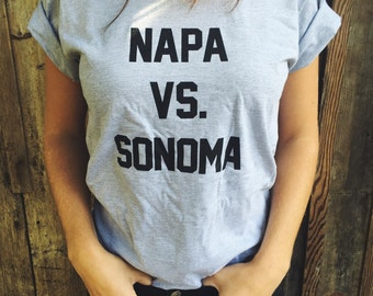 Napa vs. Sonoma T-Shirt (Heather Gray)