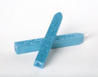 Blue metallic seal candles (set of 2)