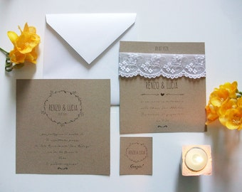 25 Wedding invitation. 25 wedding suite. 25 wedding invitations. 25 handmade Invitations.