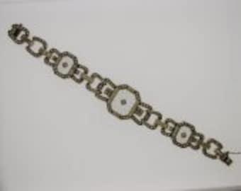 Sterling Art Deco Marcasite Bracelet