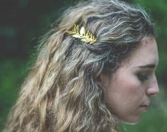 Crystal Bridal Hair Pin, Rose Gold Vine Hair Comb, Floral Bridal Headpiece, Pearl Wedding Hair Comb, Hair Accessory, Wedding Headpiece