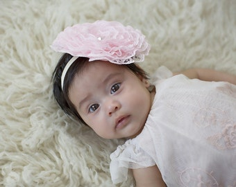 jumbo lace rosette headband