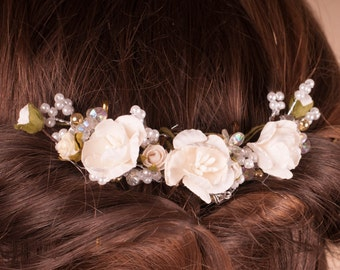 Bridesmaid flower headpiece