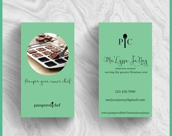 Pampered Chef 'Thank You' 2.5x2.5 business card design