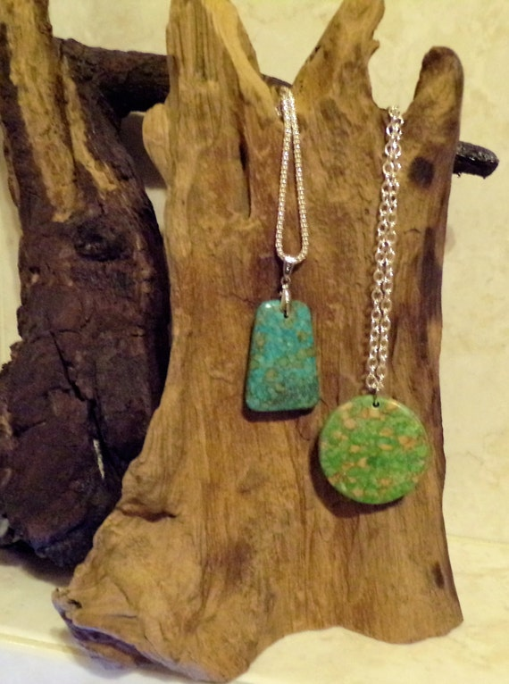 Blue and Green Turquoise Pendents