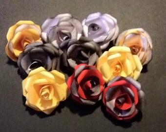 Handmade small paper roses x10