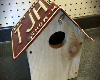 Show Me the Birdhouse - Missouri License Plate Bird House