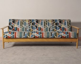 MID CENTURY MODERN sofa convertible couch bed