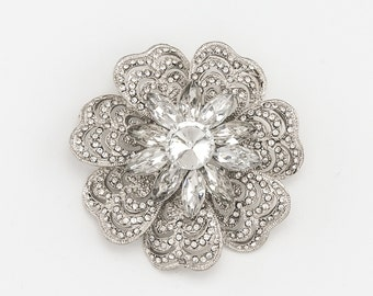 Wedding Crystal Rhinestone Brooch Clear Crystal Brooch Bridal Bouquet Brooch DIY Jewelry Wedding Cake Brooch Craft Supplies
