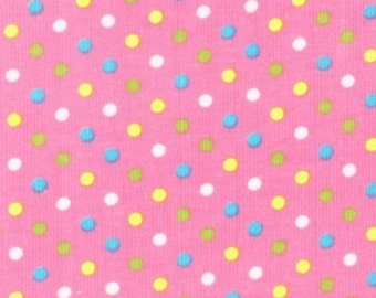 Cool Cords Spots on pink Corduroy UPC-6003-97 for Robert Kaufman created by Ann Kelle Needlecord Cotton