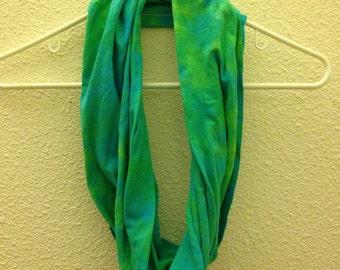 Handmade Tie-Dye Infinity Loop Circle Scarf Recycled Cotton
