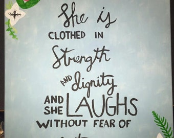 Proverbs 31:21 Painting