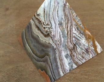 Brown & White Striped Onyx Pyramid