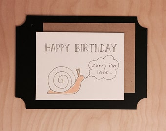 Simple belated birthday card