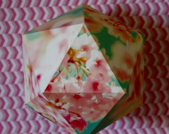 Decorative paper ball - Floral pattern