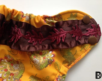 Harvest Pocket Cloth Diaper - Thanksgiving Cloth Diaper - Turkey Cloth Diaper - Autumn Cloth Diaper