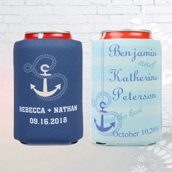 Personalized Can Coolers ~ Personalized can coolers destination wedding by weddingbyemma