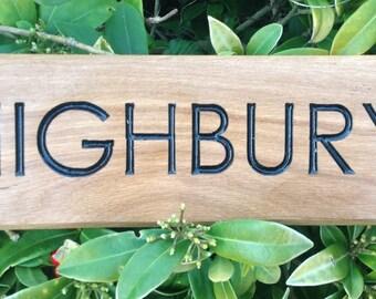 Large Engraved  Oak House Sign