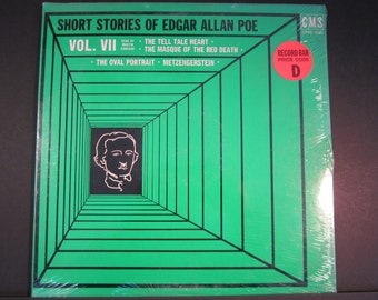 Short Stories of Edgar Allen Poe Vol. VII, read by Martin Donegan,CMS-630, 1971, sealed LP, The Tell Tale Heart,The Masque of the Red Death