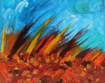 "Oil on canvas painting ""Dynamism"" - abstract painting"