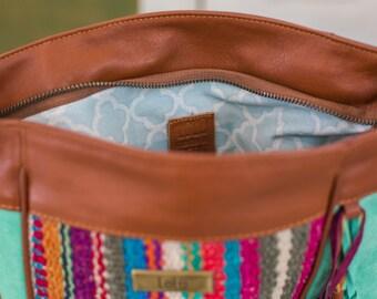 CROSSBODY bag GET AWAY - aqua