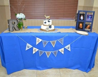 Deer themed baby shower banner BABY BOY