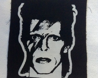 Ziggy Stardust hand printed patch