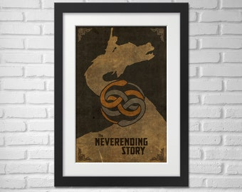 The Never-ending Story Movie Poster - Illustration / Neverending Story Movie Poster