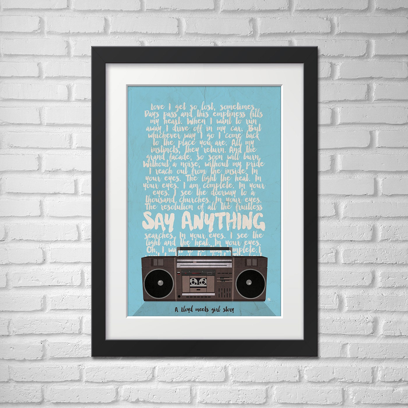 say anything movie poster illustration say anything movie