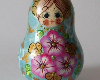 "Russian wooden souvenir doll ""Matryoshka-dolls"""