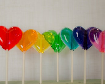 Heart lollipops, Heart Lollipop, Lollipops, lollipop, birthday lollipop, Wedding Lollipops, Party Favors, Shower lollipops, -Set of Ten