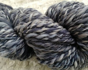 Silver Wolf 100% merino wool 2 ply hand spun hand dyed heavy worsted yarn