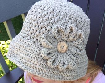 Women fedora, crochet sun hat, women crochet hat, women summer hat, women sun hat, women cotton hat, women cloche, women brim hat