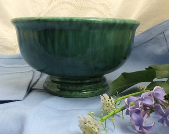 Haeger Pottery, Mid Century Haeger, Classic Planters, Variegated Green Planter, Haeger Planter, Footed Centerpiece, Planters Made in USA