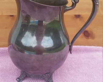 F B Rogers Silver Co. 1883 Silver Over Copper Water Pitcher F B Rogers Silver Water Pitcher 1940's Water Pitcher