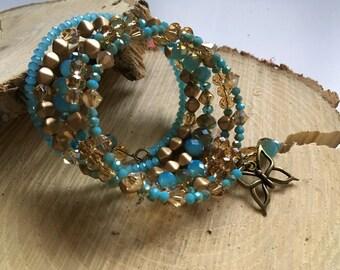 5 wrap memory wire bracelet