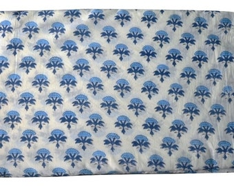 1 to 50 Yard Indian Hand Block Printed Cotton Booti Printed Fabric