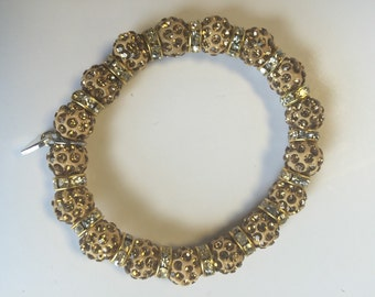 Gold blinged bracelet