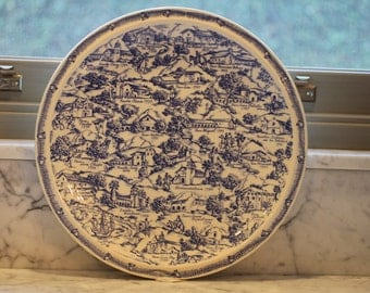 Vernon Kilns California Missions El Camino Real collector's plate designed by Annette Honeywell