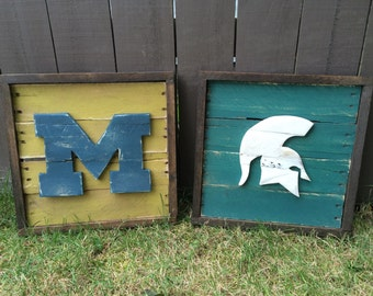 Custom sports signs- all made from reclaimed wood