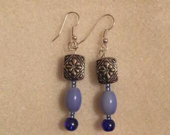 Lilac & Violet Drop Earrings