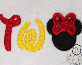 Girl Mouse TWO Machine Embroidery Applique Design Use Coupon Code PRINCESS for 15% Off