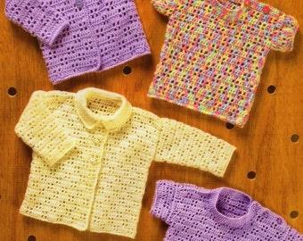 Baby Sweater & Cardigan, Crochet Pattern. PDF Instant Download.